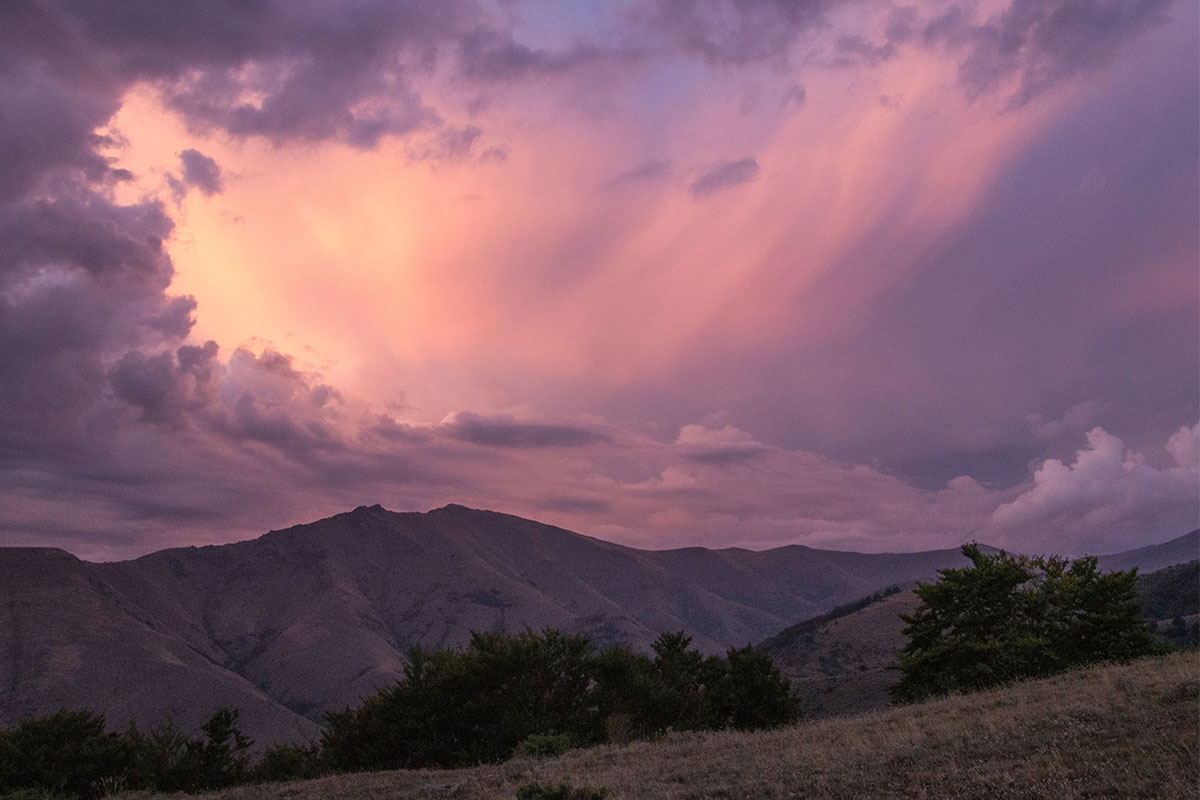 Sunset over the Prespa mountains - ©Julian Hoffman/ MBPNP Archive