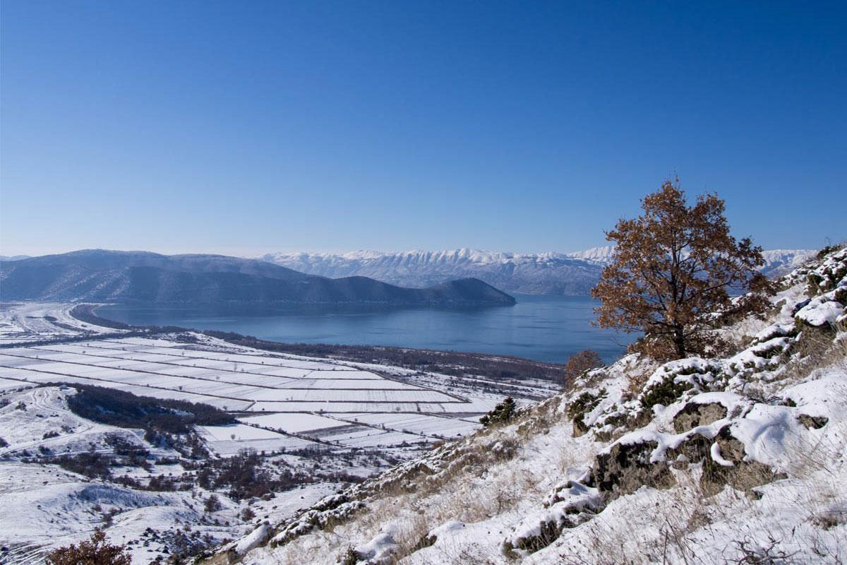 Great Prespa Lake in winter - ©Julian Hoffman/ MBPNP Archive